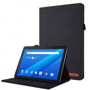 Taltech Cloth Texture Cover for Lenovo Tab M10 - Black