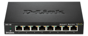 D-Link D-Link Switch 8 ports Gigabit - Metallic - Switch - 1 Gbps