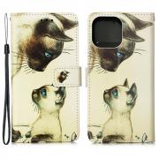 Taltech IPhone 13 cover- Beige Cats
