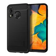 Taltech Mofi Carbon Fiver design Case for Samsung Galaxy A40 - Black