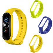 Taltech Silicone Smart Watch Band for Xiaomi Mi Band 5 - Yellow