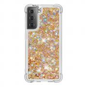 Taltech Samsung Galaxy S21 Dynamic Quicksand Case - Gold