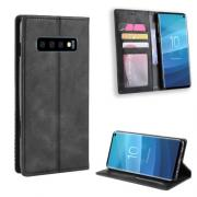 Vintage Style Cover for Samsung Galaxy S10 - Black