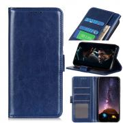 Taltech Crazy Horse Wallet Cover for Samsung Galaxy A21s - Blue