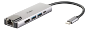 D-Link D-Link 5?in?1 USB?C Hub with HDMI/Ethernet and Power Delivery