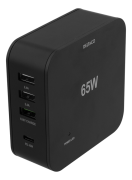 DELTACO Deltaco 65W Charger, USB-C PD, Fast Charging, MacBook Air, iPhone , - Black
