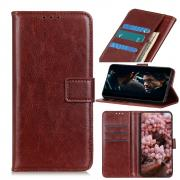 Taltech Crazy Horse Wallet Cover for iPhone 12 Pro Max - Brown