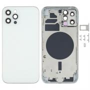 NONAME iPhone 12 Pro Complete Back Cover Glass with Frame - White