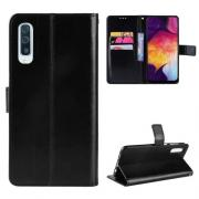 Taltech Crazy Horse Cover for Samsung Galaxy A50 - Black