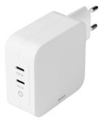 DELTACO Dual USB-C PD, GaN, 100W wall charger by Deltaco- White