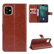 Taltech Crazy Horse Wallet Cover for iPhone 12 Mini - Brown