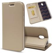 Taltech Business Wallet Cover for Samsung Galaxy J3 2017 - Gold