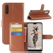 Taltech Litchi PU-Leather Cover for Huawei P20 - Brown