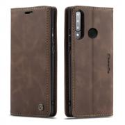 Taltech CASEME 013 Series Wallet Cover for Huawei P30 Lite - Coffee