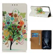Taltech Wallet Cover for Samsung Galaxy S21 Ultra - Colorful Tree