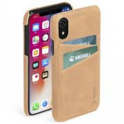 Krusell Krusell Sunne 2 Card Cover for iPhone XR - Vintage Nude