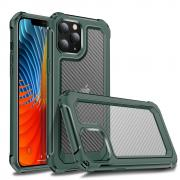 Taltech Carbon Fiber Case for iPhone 12 /12 Pro - Grön/Transparent