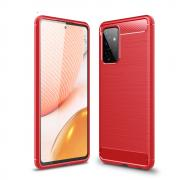 Taltech Brushed Carbon Fiber Case for Samsung Galaxy A72 4G/5G - Red