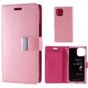 Taltech Mercury Goospery Rich Diary Wallet Cover for iPhone 11 Pro - Pink