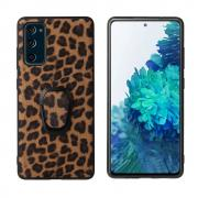 Taltech Case with Ringholder for Samsung Galaxy S20 FE - Leopard Texture