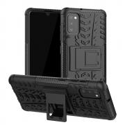 Taltech Tire Texture Case with stand for Samsung Galaxy A41 - Black
