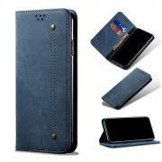Taltech Jeans Cloth Wallet Case for iPhone 13 Pro - Blue