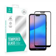 SiGN Huawei P20 Lite SiGN 3D Full Screen Protector Tempered Glass - Black