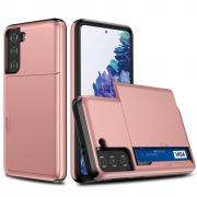 Taltech Samsung Galaxy S21 Case with Card holder - Rosegold