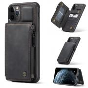 Taltech CASEME Leather Case with Card Slots for iPhone 11 Pro Max - Black