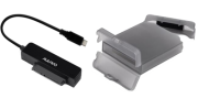DELTACO Deltaco HDD-Adapter with Case, USB-A 3.1 Gen2, 10Gbps - Black