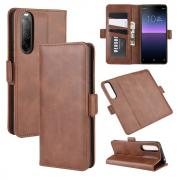 Taltech Classic Wallet Cover for Sony Xperia 10 II - Brown