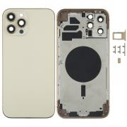 NONAME iPhone 12 Pro Max Complete Back Cover Glass with Frame - Gold