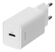 DELTACO USB-C PD, 5V, 3A, 18W wall charger by Deltaco- White