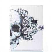 Leather Cover for iPad 9.7 2017- Skull & Flowers
