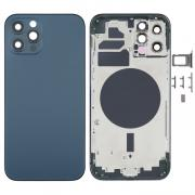 NONAME iPhone 12 Pro Complete Back Cover Glass with Frame - Blue