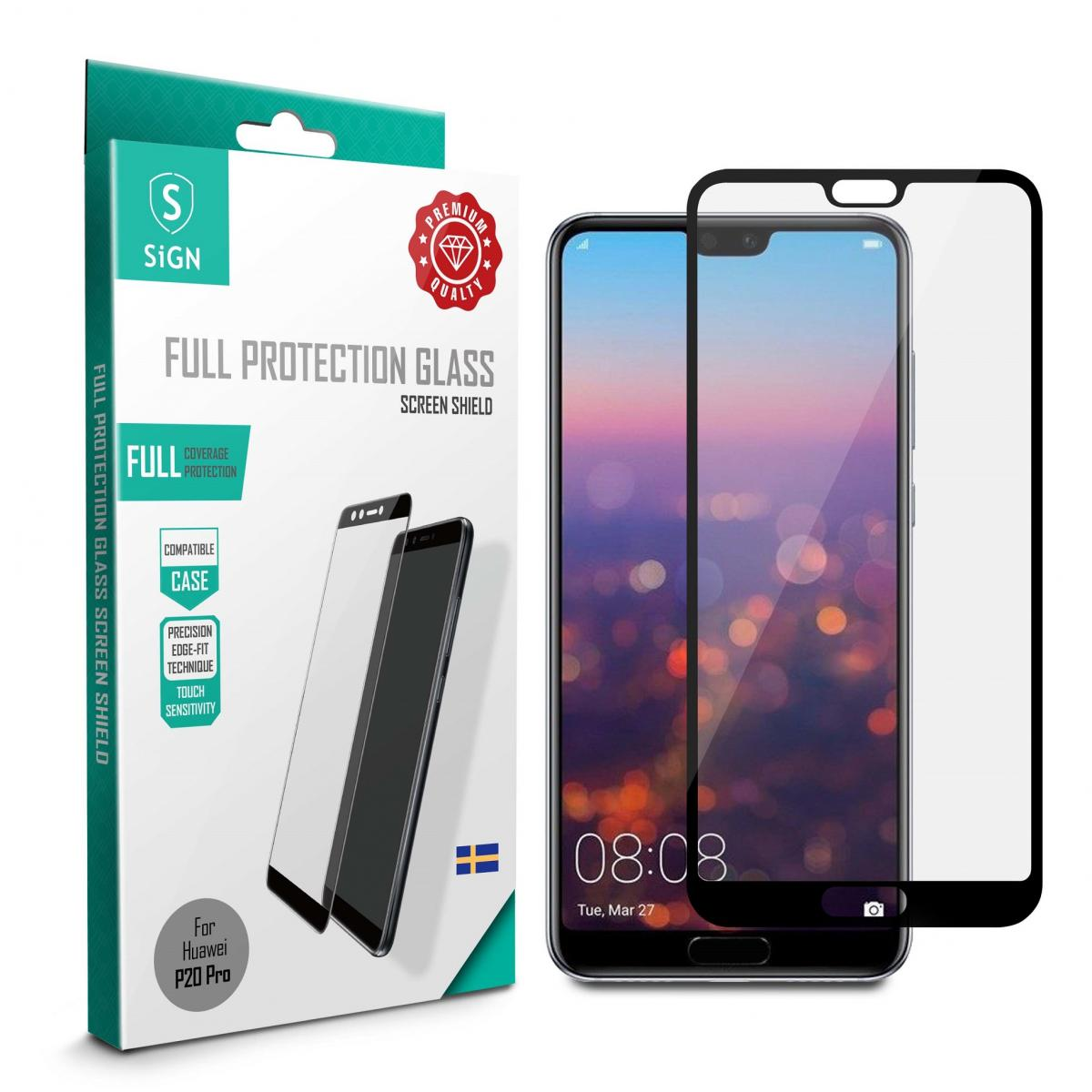 SiGN SiGN Full Cover Screen Protector Tempered Glass for Huawei P20 Pro - Black