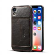 Taltech Crazy Horse PU-leather Case with Stand for iPhone XR