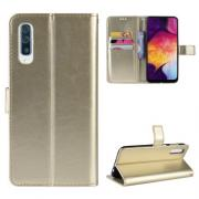 Taltech Crazy Horse Cover for Samsung Galaxy A50 - Gold