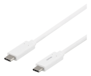DELTACO Deltaco USB-C for USB-C-Cable, 3A 60W, 1 m - White