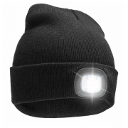 SiGN SiGN Hat with LED lamp USB - Black