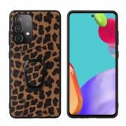 Taltech Kickstand Case with Ringholder for Galaxy A52 4G/5G - Leopard Texture