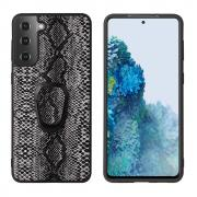 Taltech Case with Ringholder for Samsung Galaxy S21 Plus 5G - Snake Texture