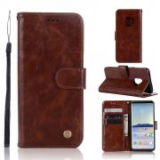 Cover Premum PU-Leather for Samsung Galaxy S9 - Brown