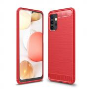 Taltech Carbon Fiber Brushed Case for Samsung Galaxy A32 5G - Red