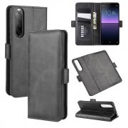 Taltech Classic Wallet Cover for Sony Xperia 10 II - Black