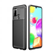 Taltech Carbon Fiber Case for Samsung Galaxy A21s - Black