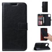 Taltech Crazy Horse Wallet Cover for Huawei Y5p - Black