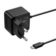 DELTACO Deltaco Wall Charger with micro-USB Cable, 1m, 2.4A, 12W - Black