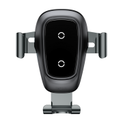 Baseus Baseus 2-in-1 Carholder and Wireless Charger - Black