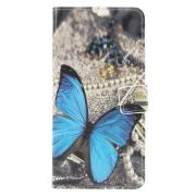 Taltech Wallet Cover for Huawei P30 Lite - Blue Butterfly
